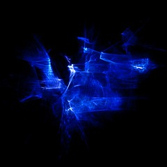 Enigma in Blue (Reciprocity) Tags: blue light abstract film 35mm experimental enigma plastic blackground refraction analogue lensless caustics photogram diffraction lightart ls1 reciprocity nikkormatt refractograph fujit64 bs182 s4232a
