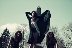 boneyard babes 4 (THE PULP GIRLS) Tags: trees girls nature grave goth eerie cape occult blacklips