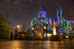 Wizarding World of Harry Potter: Hogwarts (Hamilton!) Tags: world travel vacation night fun islands orlando pod long exposure gorilla florida sony magic tripod harry potter adventure universal studios hogwarts nex hogsmeade gorillapod wizarding nex7 sal1650 laea2 wizardtonemapped dt1650 dt165028