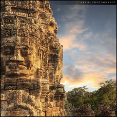 The Stone of Bayon, Angkor Thom, Siem Reap, Cambodia :: HDR (Artie | Photography :: I'm a lazy boy :)) Tags: classic face architecture photoshop canon cambodia khmer faces cs2 stones buddhist wideangle handheld historical 1020mm siemreap angkor hdr bayon angkorthom artie mythological 3xp sigmalens photomatix jayavarman bayontemple prasat tonemapping tonemap 400d rebelxti