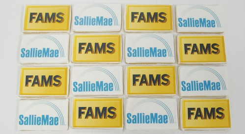 [Image from Flickr]:FAMS and SallieMae logo cookies
