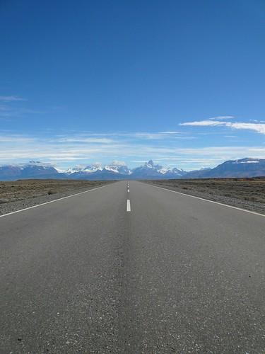 Driving from El Calafate to El Chaltén