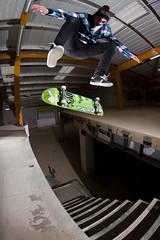 Paul Switch Heel (RobSalmon) Tags: uk 2 robert canon regan lens paul switch photography eos shoes with shot skateboarding united salmon kingdom rob fisheye tokina fabric skater skateboards skateboarder flashes heelflip dvs 1017mm 40d wwwrobsalmonphotocouk