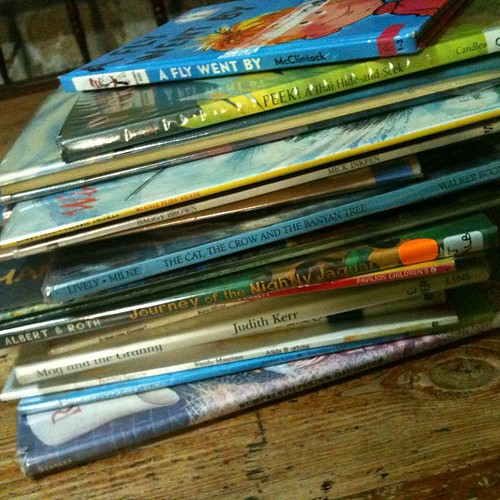 Sunday night library pile conquered... Totally!!!