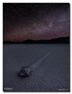 Racetrack under twinkle twinkle little stars, Death Valley, CA