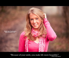 """""""Because of your smile, you make life more beautiful"""" (Sasha L'Estrange-Bell) Tags: pink winter portrait girl quote borders pinkgirl blackborders prettyportrait sashabell quotesproject smilequote oliviabell sashabellphotography quoteproject smilingquote quoteborders"""