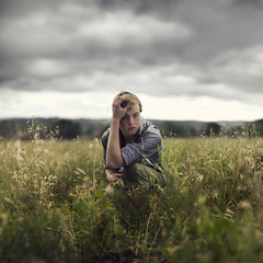 All things lost. (David Talley) Tags: lighting trees mountain storm mountains loss field grass rain weather clouds lost sad emotion cloudy wheat hill stormy scared raining plain pouring tallgrass losing 365project davidtalley
