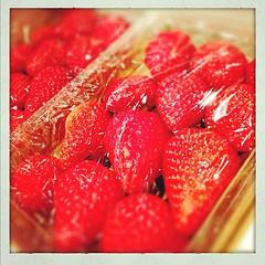 昨日頂いた苺、ご馳走様