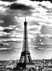 TOUR EIFFEL PARIS (steve lorillere) Tags: city paris france europe noir live toureiffel et blanc ville blinkagain