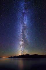 "Milky Way over Teton Range and Jackson Lake (IronRodArt - Royce Bair (""Star Shooter"")) Tags: park sky mountain nature night dark way stars evening twilight shiny long exposure heaven glow shine nightscape time dusk infinity space deep peak grand twinkle astro sparkle galaxy national astrophotography astronomy teton universe exploration range milky cosmic starry cosmos astrology constellation distant milkyway starlight starrynightsky"
