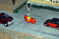 Wienermobile Sighting (When lost in.....) Tags: railroad rural model corn iowa choo diorama touristattractions modelrailroads centraliowa trainlandusa trainmuseums placesneari80