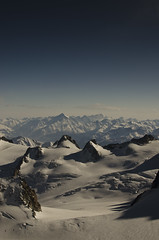 Mountain range (BenJamesRumsey) Tags: sky snow france mountains landscape du midi polarizer mountainrange polariser aiguelle