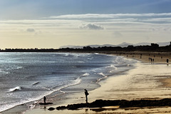 Beach walks (Fat_Fingers) Tags: sea dublin beach silhouette malahide