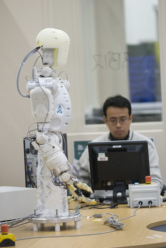 Robotics engineer at work at the Bristol Robotics Laboratory