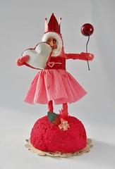 OOAK Spun Cotton Little Red Queen Girl