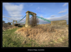 Horkstow Bridge, Lincolnshire (roddersdad) Tags: countryside bridges lincolnshire febuary 2012 suspensionbridges riverancholme horkstowbridge canon1dsmkll wwwimagesbyclivecouk copyrightclivejmaclennan canonef1740mmf4lusmlenscopyrightclivejmaclennan