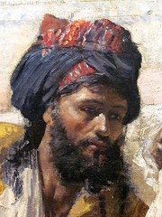 Weeks--The Hour of Prayer, detail 4 (Universal Pops (David)) Tags: bird art colors pool stone architecture reflections painting reading book virginia artist massachusetts details prayer praying agra arches courtyard richmond canvas hour painter illustrator lounging turban orientalism washing comprehensive expansive mughal pearlmosque virginiamuseumoffinearts edwinlordweeks lonbonnat motimushid