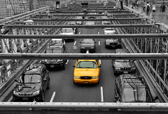 New York City (Surrealplaces) Tags: new york city newyorkcity taxi brooklynbridge