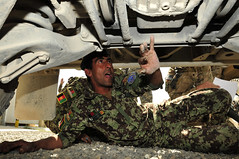 Testing Out! (25th Combat Aviation Brigade) Tags: afghanistan kandaharairfield hmmwv mechanics usarmy hummvee motorpool afghannationalarmy vehiclemaintenance
