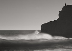 natural high (Andy Kennelly) Tags: california bw seascape silhouette landscape high rocks waves natural davenport