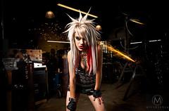 Nikiski Noir (Mike Ossola) Tags: david hot sexy mike dark fire intense punk noir badass chick warehouse rocker heat sparks hensley alienbees nikiski ossola