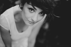 joanna (basistka) Tags: portrait woman white black girl beauty eyes poland joanna gauges basistka lesnianska