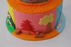 Yo Gabba Gabba fondant 1st Birthday Cake (Sweet Fix) Tags: birthday cake daisies 1st chocolate first daisy meringue babyboy smb fondant tieredcake italianmeringuebuttercream yogabbagabba boysbirthday imbc 2tiered