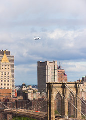 Enterprise Arrives Over NYC and the Brooklyn Bridge (Diacritical) Tags: nyc bridge iso400 brooklynbridge shuttle enterprise spaceshuttle f40 200mm aperturepriority 70200mmf28 12500sec d700 nikond700 12500secatf40 2012space