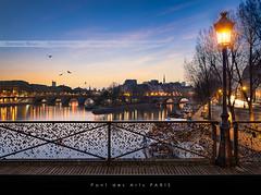 Pont des Arts, Paris / EXPLORED #3 / (Beboy_photographies) Tags: blue paris france saint seine louis cité arts ile des hour pont bluehour saintlouis neuf hdr pontneuf matin pontdesarts photographies beboy