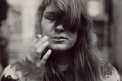 You Don't Know Me (Anna Thunderroad) Tags: street woman girl photography close cigarette smoking closedeyes
