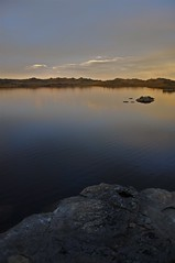 (meccanica) Tags: sky lake water bike sunrise otago mountainbiking touring dunstan freeload