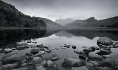 Moody Tarn - Reprocessed (Ben Tite) Tags: england bw white lake black nature water landscape mono rocks district united sigma kingdom cumbria tarn 1020 blea flickrduel