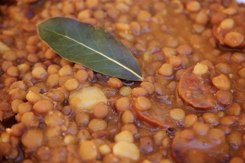 Quick Lentils with Chorizo