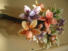 vintage summer bouquet brooch (Bracelets To Buckles) Tags: vintage brooch retro bouquet