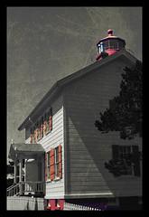 Yaquina (The Surveyor) Tags: ocean lighthouse house color oregon landscape coast niceshot pacific or newport selective yaquina