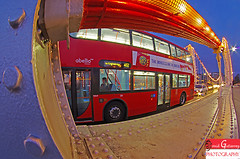 London Bus (david gutierrez [ www.davidgutierrez.co.uk ]) Tags: city uk travel bridge blue light red summer england sky people urban colour bus london art classic public glass colors beautiful yellow architecture modern night river spectacular landscape photography lights star photo vanishingpoint interesting fantastic europe chelsea angle image pentax dusk 10 top unique steel capital transport perspective icon structure line southbank fisheye nights 17 sensational metropolis passenger bluehour oyster dslr curve asymmetry touristattraction tyre nightfall cityoflondon londonbus tfl transportforlondon 1017mm unigue urbanlondon davidgutierrez pentaxk5