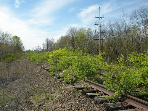End of the line of a Old B&O line in Cambridge Ohio.