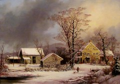 Winter in the Country: A Cold Morning, Durrie (Universal Pops (David)--Badly Needs Bandwidth) Tags: christmas morning winter portrait sky cold art chickens water weather barn rural painting print landscape virginia inn feeding connecticut country rustic scenic warmth overcast richmond well canvas oil americana bleak hay activity pitchfork sleigh picturesque livestock bucolic vmfa lithographic currierives virginiamuseumoffinearts georgehenrydurrie