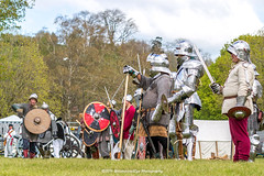 [2014-04-19@15.11.13a] (Untempered Photography) Tags: history costume helmet battle medieval weapon sword knight shield armour reenactment combatant chainmail canonef50mmf14 perioddress polearm buckler platearmour gambeson poleweapon mailarmour untemperedeye canoneos5dmkiii untemperedeyephotography glastonburymedievalfayre2014