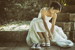 Pre-wedding (Abhi Fotografia) Tags: wedding white asian photography model shoes outdoor gown prewedding