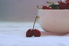 cherries (ionela_diana_99) Tags: red food white macro texture fruit cherry cherries berries sweet juice picture fruta 550mm cerrys canon100d bodengon