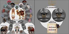 Birdy - Boho - Arcade Key (Dani @ Birdy/Foxes/Alchemy) Tags: life pet elephant flower chains 3d mesh tiger arcade sl camel bikini second boho reward birdy septum headdress zbrush maitreya bohemien