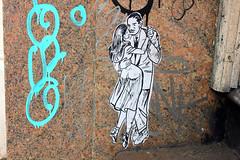 NEW YORK - Dancing on the step (LUAL audiovisual) Tags: street newyork art wall stairs graffiti dance couple energy pareja small step paso partner baile crosby bailar