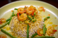 Scampi with rice (jonashellsen) Tags: food cooking dinner rice coconut plate delicious thai garlic shrimps thaifood scampi springonion haricotsverts