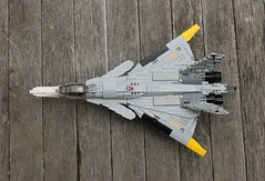 "J-44 ""Fandance"" Planform (Matt Hacker) Tags: yellow fighter lego nosferatu ace jet inspired delta creation su missile dorsal combat 13 27 bays own canard moc fandance flanker j44 cfa44"