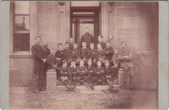 Glasgow schoolboys and teachers by Davidson & Smith (c.1880s) (pellethepoet) Tags: school boys students children scotland unitedkingdom glasgow photograph schoolchildren teachers groupportrait pupils cabinetcard schoolboys classportrait eglintontoll davidsonsmith