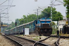 Sabari Express (B V Ashok) Tags: express gt sr sabari scr swr emd 20055 kjm 17229 ghatkesar trivandrumhyderabad wdp4 tvchyb