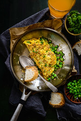 Peas and Parsley Omelette 2 (Whisk Affair) Tags: breakfast egg peas parsley omelette