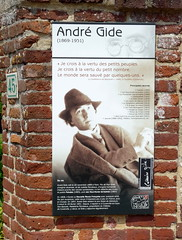 Cuverville - Andr Gide (Philippe Aubry) Tags: normandie pancarte inscription cuverville seinemaritime paysdecaux andrgide pointedecaux