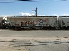 10-01-10 (13) (This Guy...) Tags: road railroad car train graffiti box graf rail rr traincar boxcar graff 2010 hbak